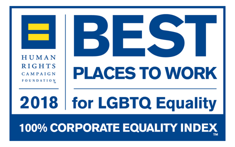2018, 2017 Best Places to Work for LGBT Equality – Human Rights Campaign