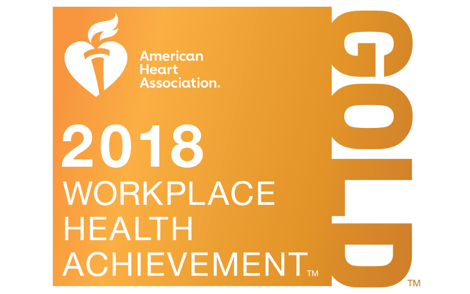 2018, 2017 Gold Recognition - AHA Workplace Health Achievement Index