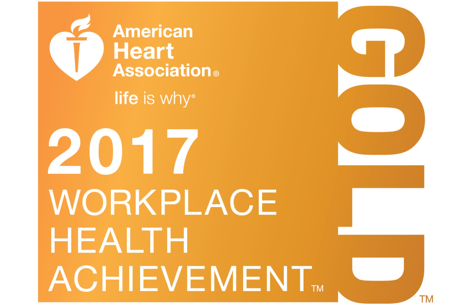 2017 Gold Recognition - AHA Workplace Health Achievement Index
